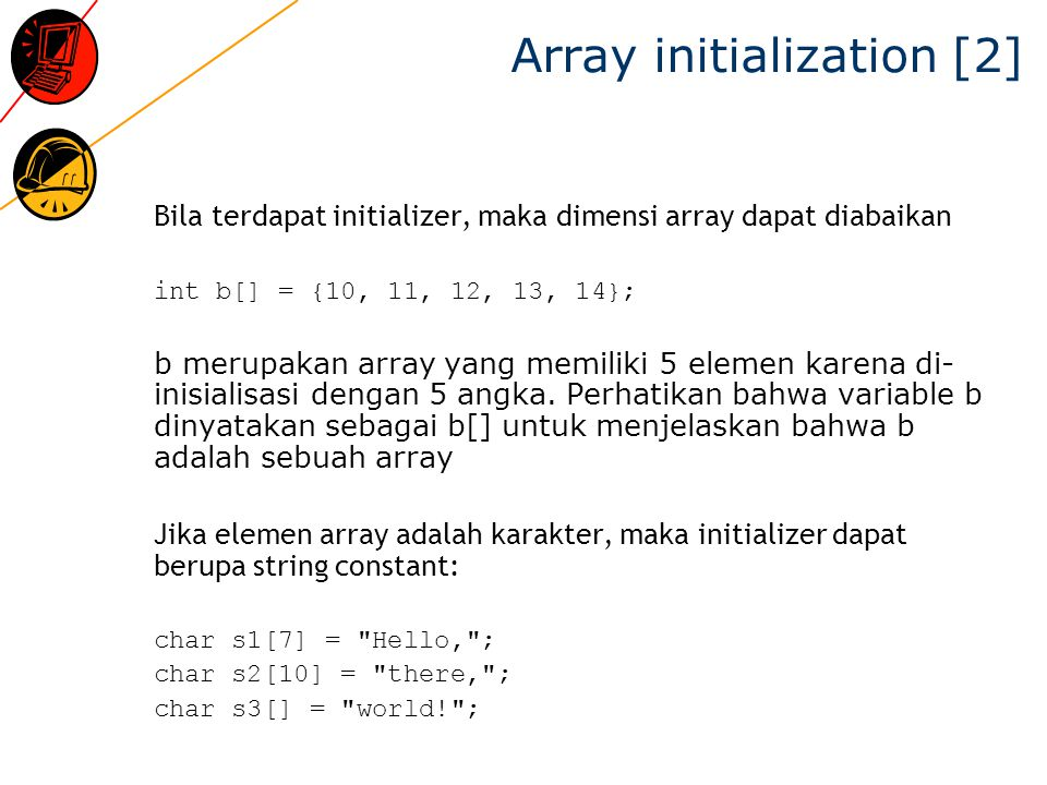 Array initialization [2]